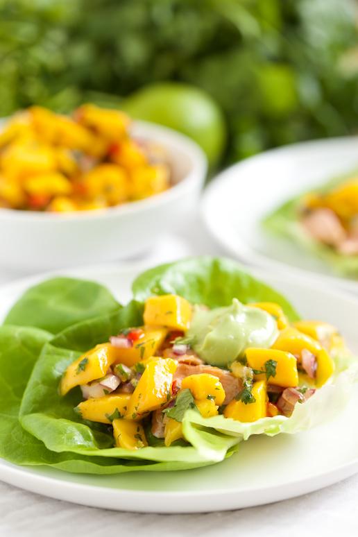 Fish taco lettuce wraps