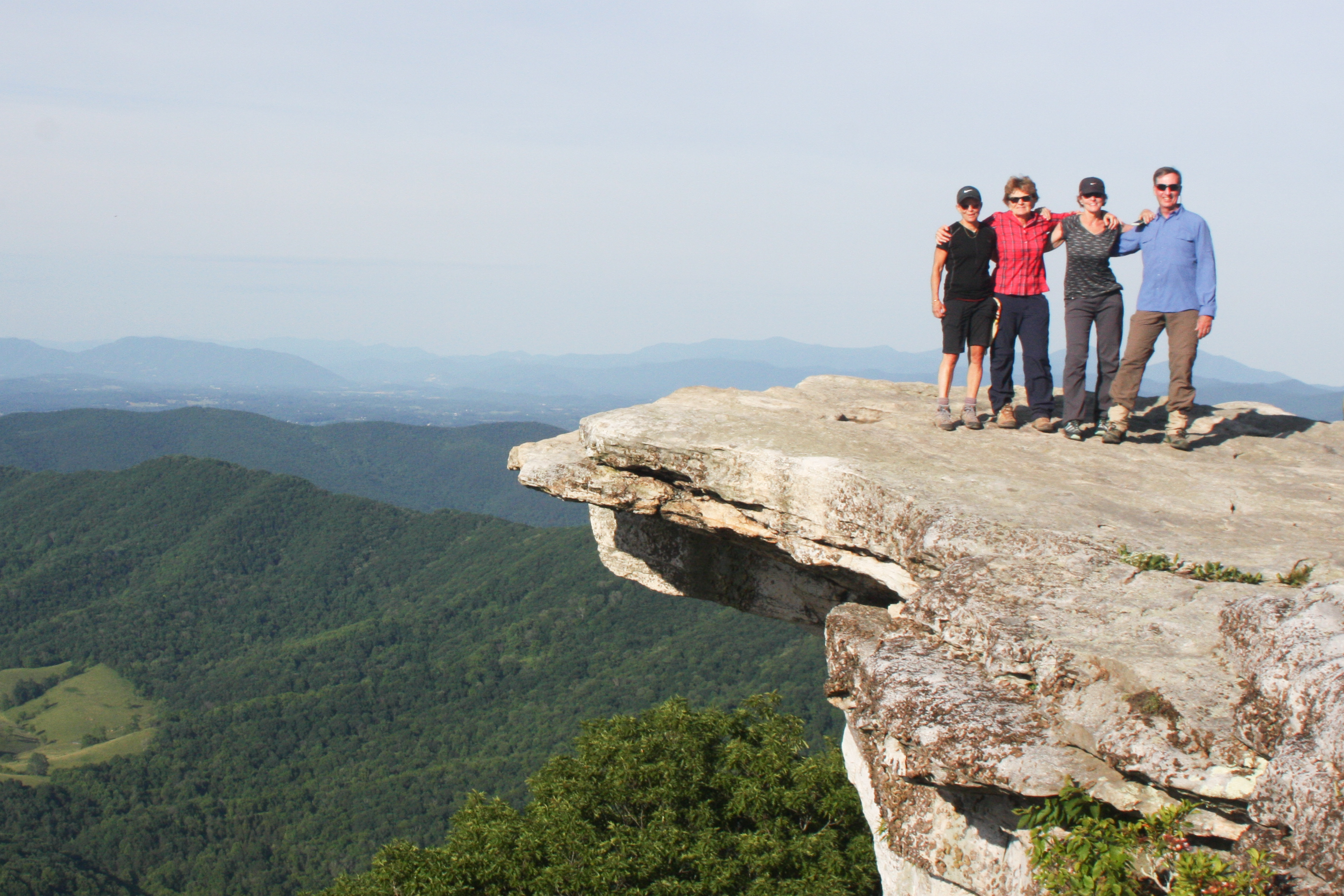 Hiking mcafee knob in catawba virginia