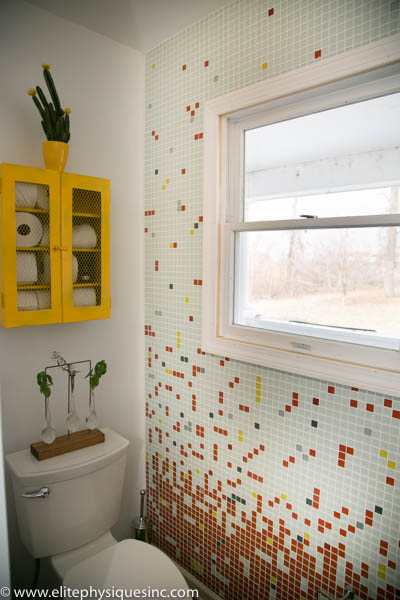 DIY glass wall tie colors