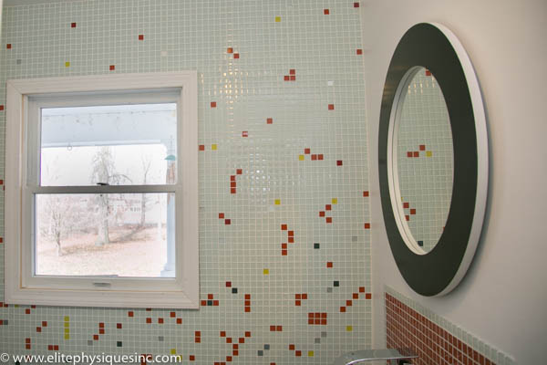 DIY glass wall tile