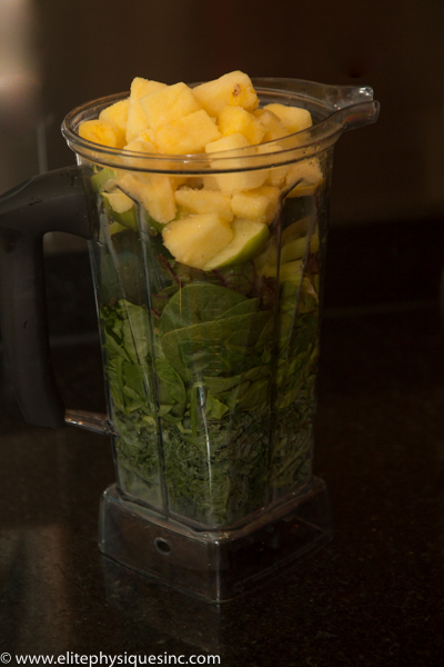 Popsicle green smoothie