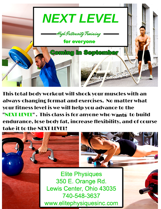 HIT workout flyer