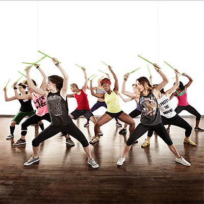 Pound fitness class