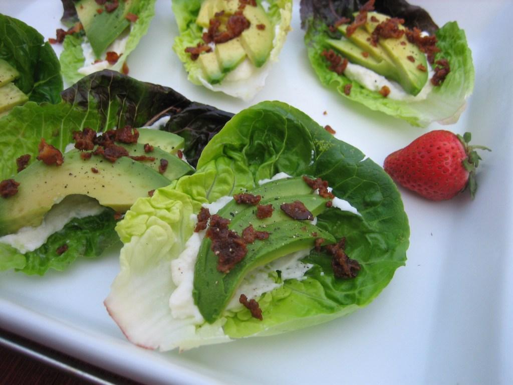 Avocado: Bacon Avocado Lettuce Wraps