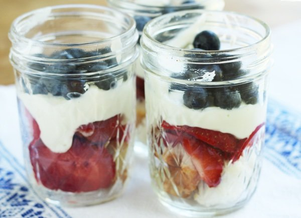 Light Berry No-Bake Mason Jar Dessert